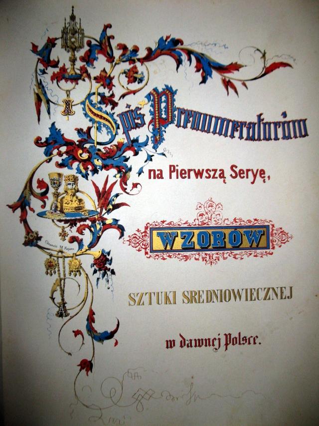 """""""Wzory sztuki średniowiecznej iz epoki odrodzenia pod koniec wieku XVII wdawnej Polsce"""""""