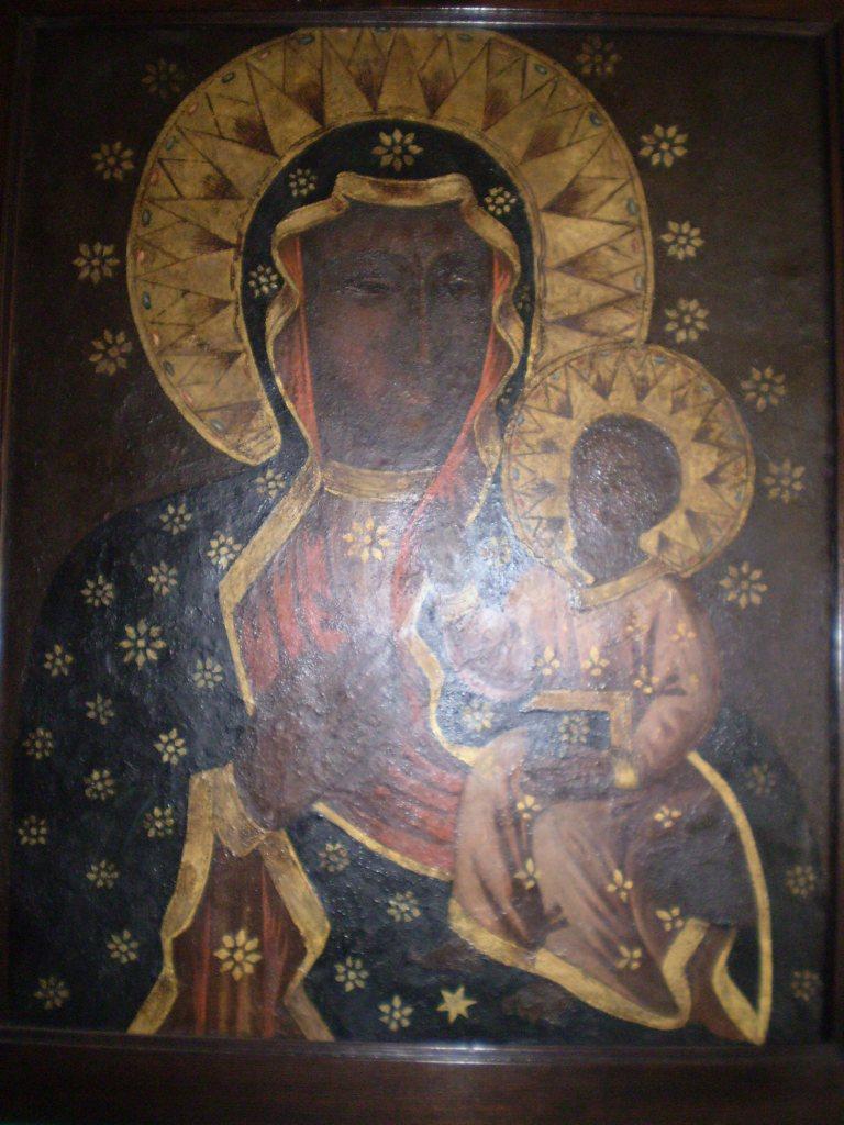 Obraz przedstawiający Matkę Boską zDzieciątkiem