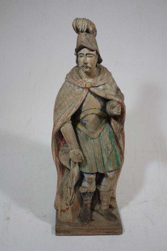 Rzeźba wdrewnie, przedstawiająca Św. Floriana, datowana na II poł. XVIII w. – autor nieznany