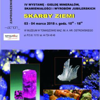 Zapraszamy na IV Wystawę – giełdę minerałów, skamieniałości iwyrobów jubilerskich SKARBY ZIEMI