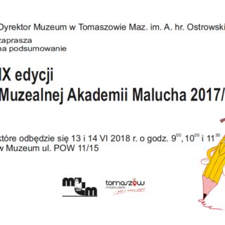 Podsumowanie IX edycji Muzealnej Akademii Malucha 2017/18