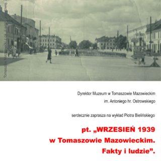 WRZESIEŃ 1939 wTomaszowie Mazowieckim. Fakty iludzie.