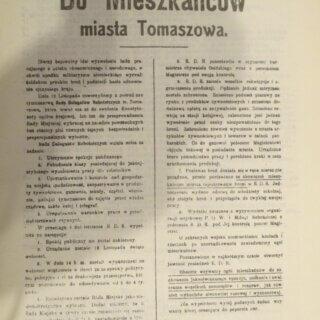 12 listopada 1918 roku wTomaszowie Mazowieckim