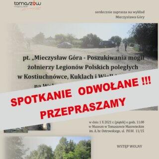 Spotkanie zp. Mieczysławem Górą odwołane!